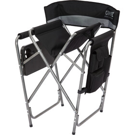 CAMPZ Folding Chair with Side Table black/grey